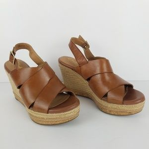 Clarks Artisan Platform Wedge Sandals 7 VGUC